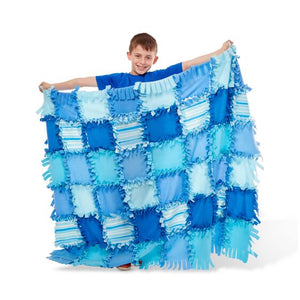 Created By Me - Stiped Fleece Quilt - Blue