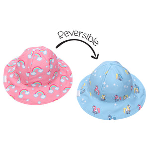 Flapjack/Reversible Sun Hat Rainbow/Unicorn - M