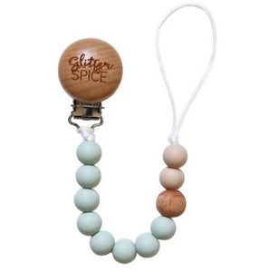 Silicone Pacifier Clip - Sage