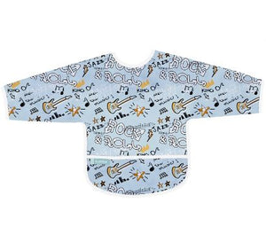 CleanBib with Sleeves - Blue Rock - 6-12m