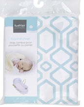 Load image into Gallery viewer, Kusies Bassinet Sheet - Turquoise Octagon