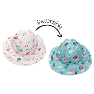 Flapjack/Reversible Sun Hat Pink Zoo - S