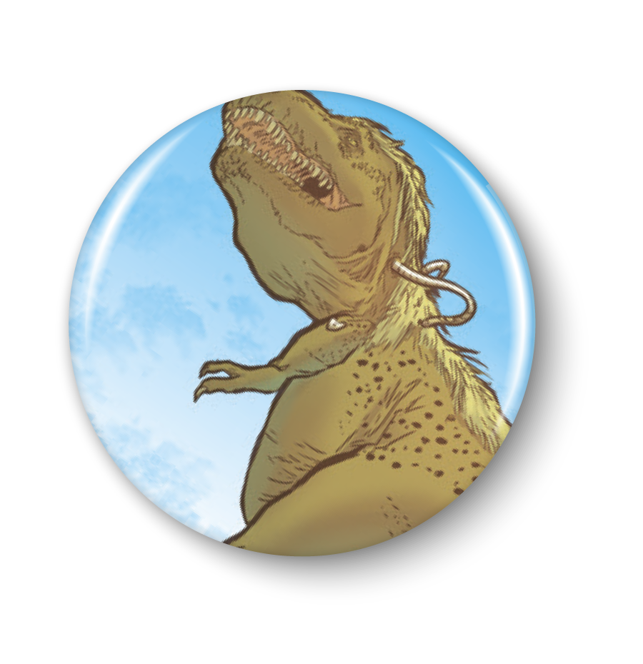 Anamelia, Dino, 1in. Button
