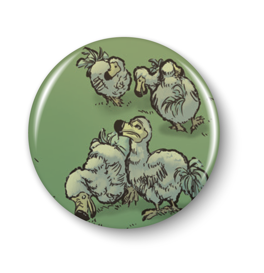 Anamelia, Dodo, 1in. Button