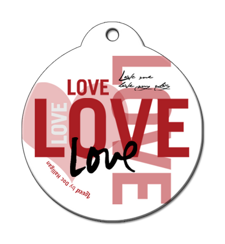 Inspired by Andy Warhol and The Beatles DOC Halligans Love Pet ID Tags