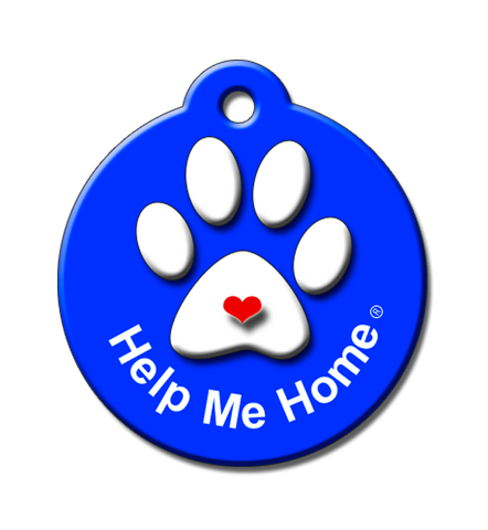 blue, pet tag, Help Me Home Pet ID Tag by BARKCODE