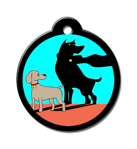 Alter ego cartoon dog urban puppy id tag lost pet qr code