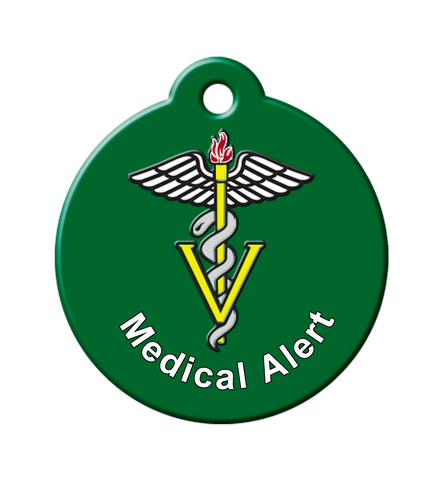 medical alert tags for pets, vet id tag, medical pet id, tags for sick pets