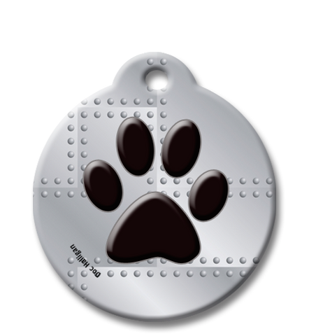 Doctor Karen Halligan pet id tag design-On the Grid, great id tag for boy pets
