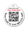 back of qr code pet id tag