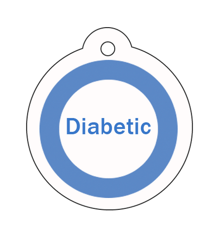 diabetic pet id, diabetic pet, vet alert, diabetes in a pet