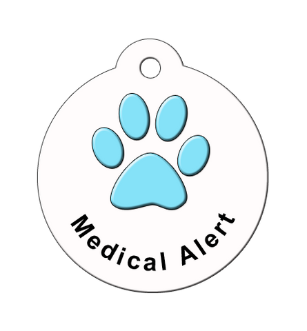 code blue, sample medical alert tags for dogs, medical id tag for pets, medical alert id, dog medical tags