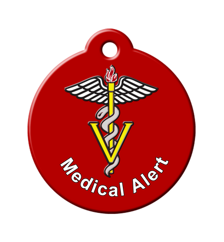 medical alert id tags, great to use when people need to know, medical alert tags for dogs, pet medical id, medical alert tag for pets