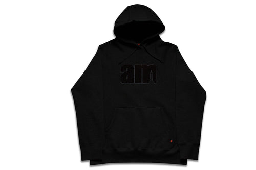 AM LOGO CHENILLE PATCH PULLOVER BLACK