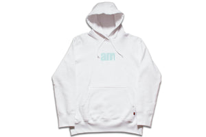 AM LOGO PULLOVER WHITE/BLUE