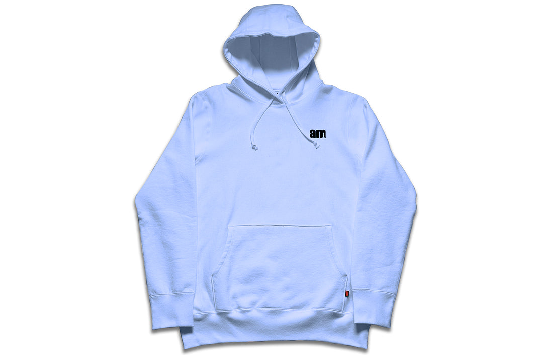 AM LOGO FLOCK PULLOVER CHAMBRAY BLUE