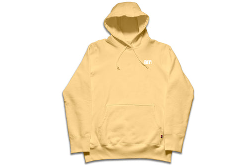 AM LOGO FLOCK PULLOVER GOLDEN HAZE