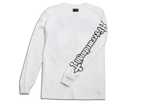 HEADBANGERS LONG SLEEVE TEE WHITE