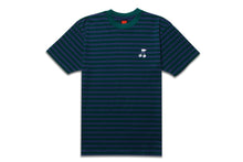 Load image into Gallery viewer, CHERRY STRIPED TEE BLUE/GREEN
