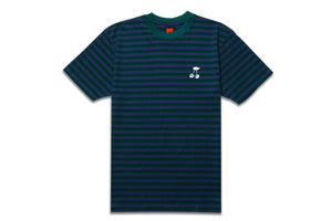 CHERRY STRIPED TEE BLUE/GREEN
