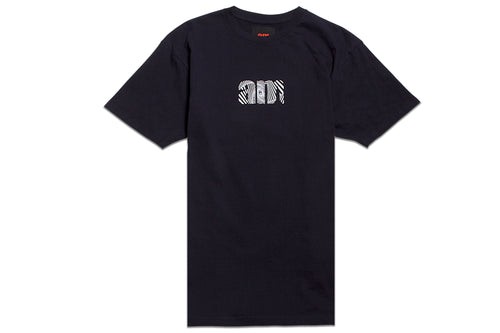 WAVE AM LOGO TEE NAVY