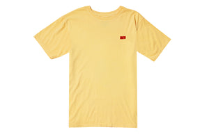 FLOCK AM LOGO TEE GOLDEN HAZE