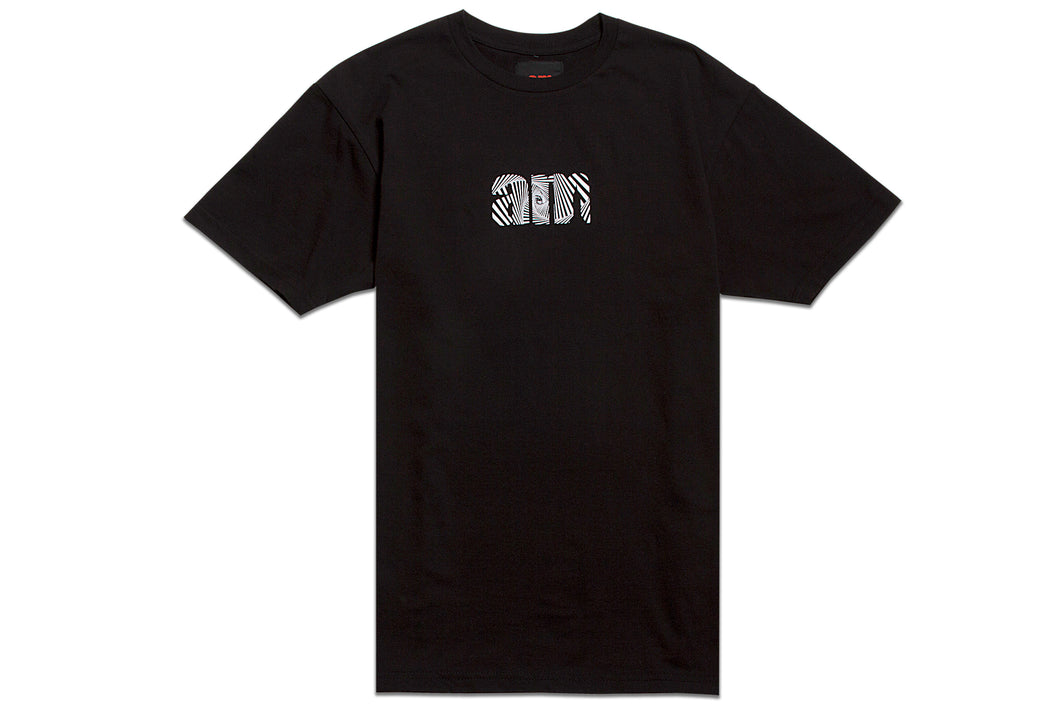 WAVE AM LOGO TEE BLACK