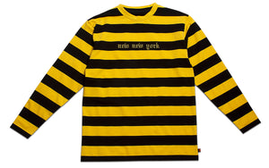 NEW NEW YORK BORDER LONG SLEEVE YELLOW & BLACK