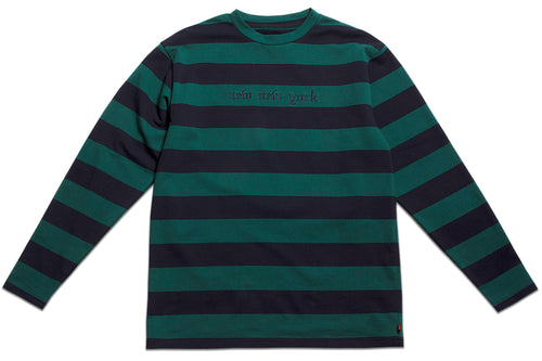 NEW NEW YORK BORDER LONG SLEEVE NAVY & GREEN