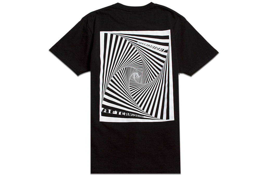 AFTERMIDNIGHT VORTEX TEE BLACK