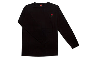 AM Rose Crewneck Sweater Black