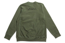 Load image into Gallery viewer, Computer Crewneck Olive Green