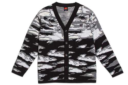 Double Jacquard Tiger Camo Cardigan