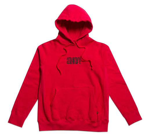Wave AM logo Pullover Red