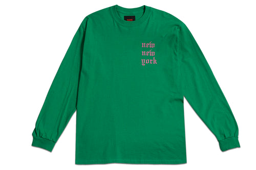 NEW NEW YORK LONG SLEEVE GREEN