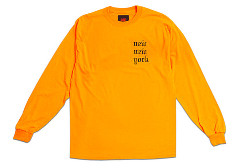 NEW NEW YORK LONG SLEEVE ORANGE