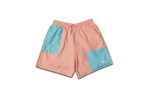 SWIM OR CHILL COLOR BLOCK SHORTS