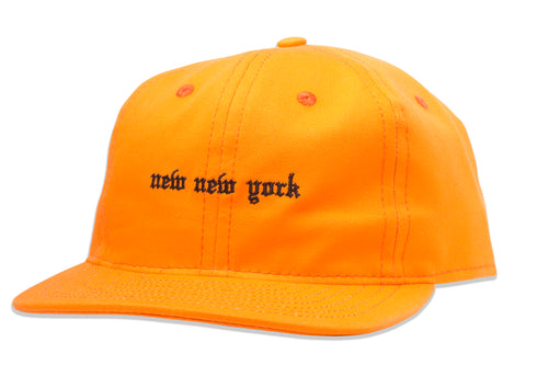 New New York Unstructured 6 Panel hat Orange