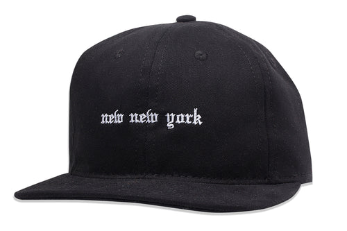 New New York Unstructured 6 Panel hat Black
