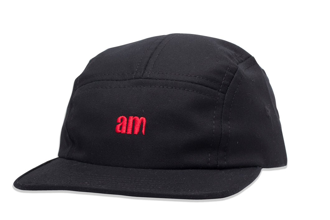 AM Logo Camper Cap Black