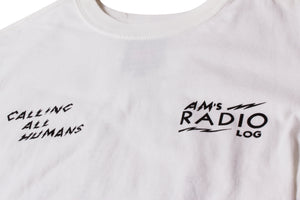 AM RADIO LOG TEE WHITE