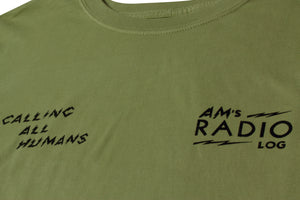 AM RADIO LOG TEE MISTLETOE