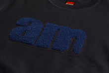 Load image into Gallery viewer, AM LOGO CHENILLE PATCH CREWNECK NAVY