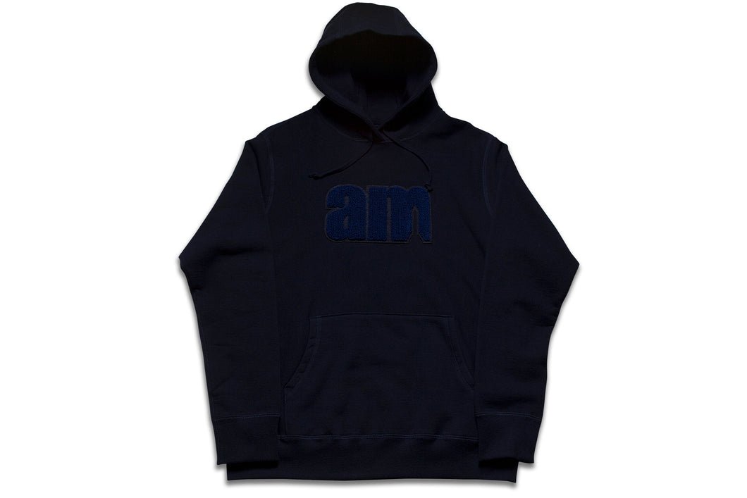 AM LOGO CHENILLE PATCH PULLOVER NAVY