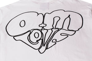 AM IS LOVE TEE WHITE