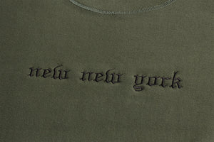 New New York Crewneck Olive Green
