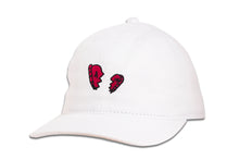 Load image into Gallery viewer, BROKEN HEARTS DAD CAP WHITE