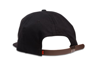 CHERRY UNSTRUCTURED 6 PANEL CAP BLACK