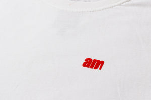 FLOCK AM LOGO TEE WHITE