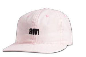 AM LOGO 6 PANEL CAP PEACH